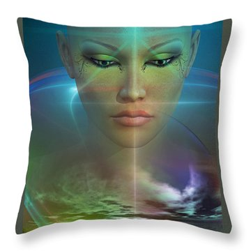 Throw Pillow featuring the digital art Essence by Shadowlea Is