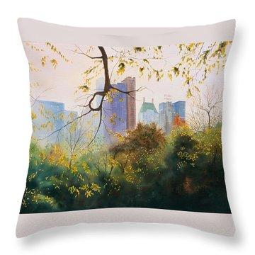 Essex House Throw Pillow by Daniel Dayley