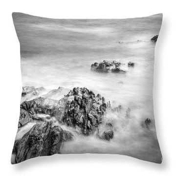 Throw Pillow featuring the photograph Estacas Beach Galicia Spain by Pablo Avanzini