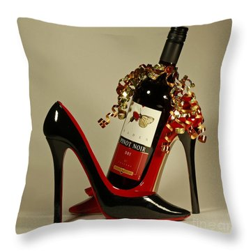 Estate Cellars Pinot Wine Throw Pillow by Inspired Nature Photography Fine Art Photography