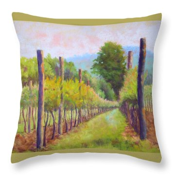 Estate Pinot Throw Pillow by Nancy Jolley
