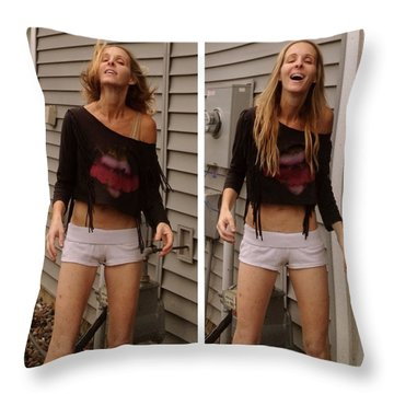 Throw Pillow featuring the photograph Estoy Loco by Lisa Piper