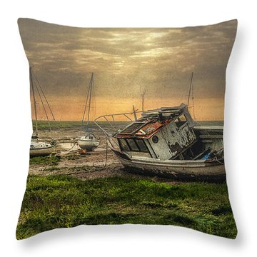 Estuary Evening Throw Pillow