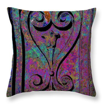 Etched Love Throw Pillow