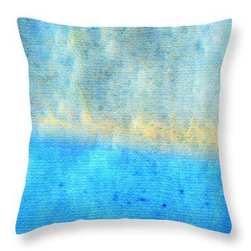 Eternal Blue - Blue Abstract Art By Sharon Cummings Throw Pillow by Sharon Cummings