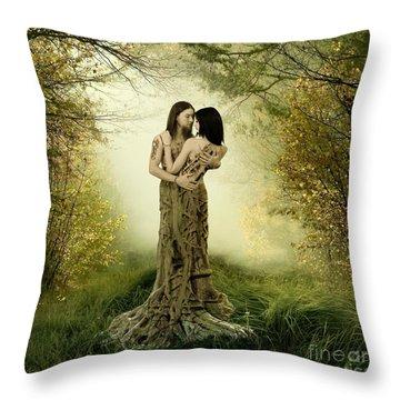 Eternal Embrace Throw Pillow by Linda Lees