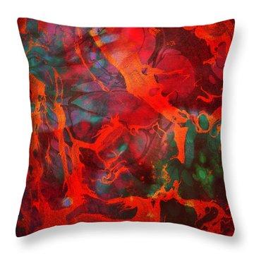 Eternal Flow Throw Pillow by Ally  White