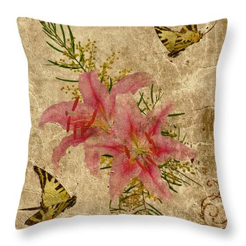 Eternal Love Message Throw Pillow by Olga Hamilton