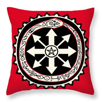 Throw Pillow featuring the digital art Eternal Struggle Of Chaos by Vagabond Folk Art - Virginia Vivier