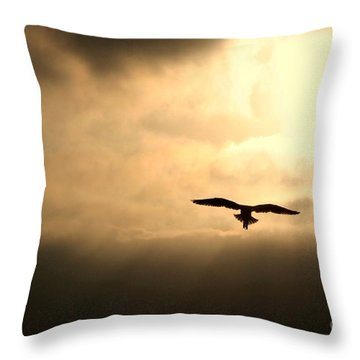 Eternal White Light Throw Pillow
