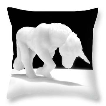 Throw Pillow featuring the photograph Eternelle Petite Licorne by Marc Philippe Joly