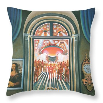 Eternity, 1968 Oil On Canvas Throw Pillow