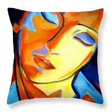 Throw Pillow featuring the painting Eternity by Helena Wierzbicki