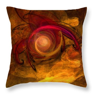 Eternity Of Being-abstract Expressionism Throw Pillow