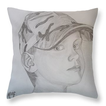 Ethan Age 6 Throw Pillow by Justin Moore