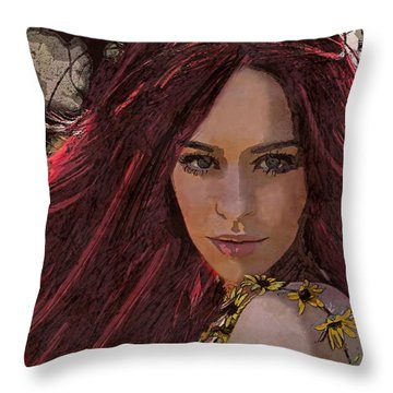 Throw Pillow featuring the digital art Ethere by Galen Valle
