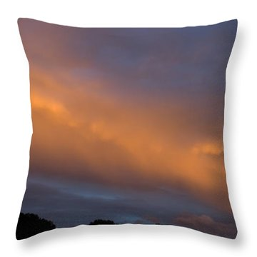 Ethereal Clouds Throw Pillow by Greg Reed