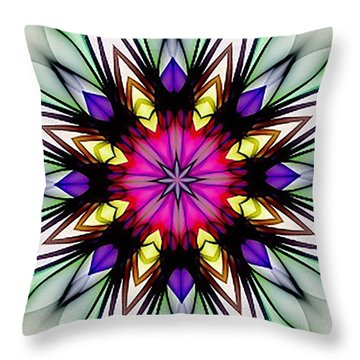 Ethereal Colors Mandala Throw Pillow