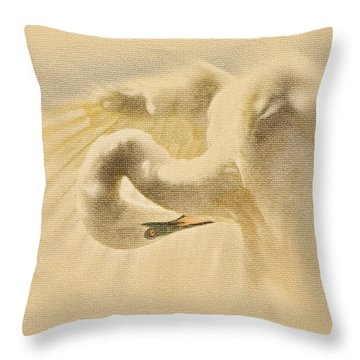 Throw Pillow featuring the photograph Ethereal Egret by Ola Allen