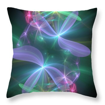 Throw Pillow featuring the digital art Ethereal Flower In Violet by Svetlana Nikolova