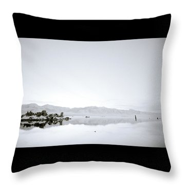 Ethereal Mono Lake Throw Pillow by Shaun Higson