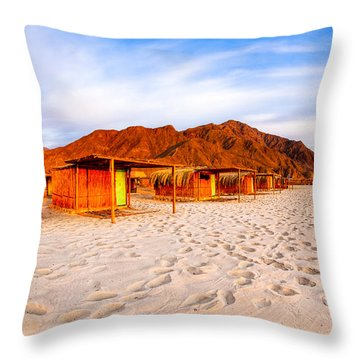 Ethereal Morning On A Red Sea Beach Throw Pillow