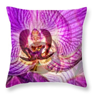 Ethereal Orchid By Sharon Cummings Throw Pillow by Sharon Cummings