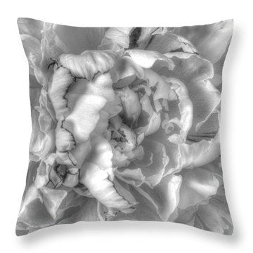 Ethereal Peony Throw Pillow