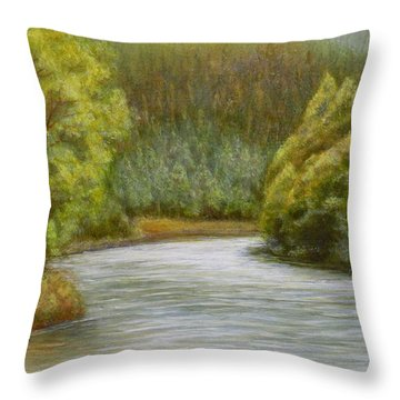 Ethereal River Throw Pillow