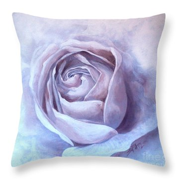 Throw Pillow featuring the painting Ethereal Rose by Sandra Phryce-Jones