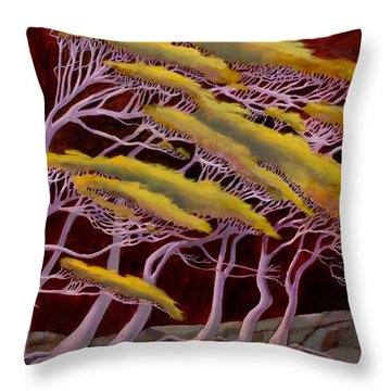 Ethereal Winds Throw Pillow by Sue  Darius