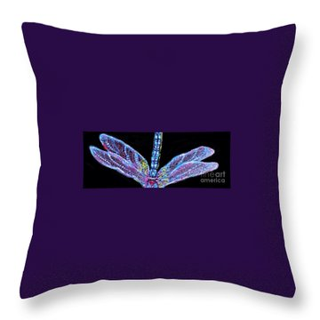 Ethereal Wings Of Blue Throw Pillow