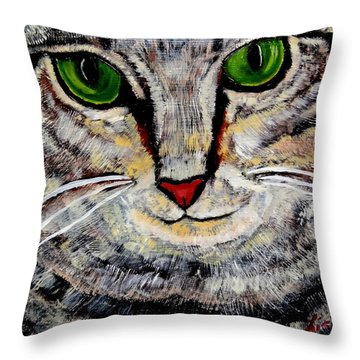 Ethical Kitty See's Your Dilemma Throw Pillow