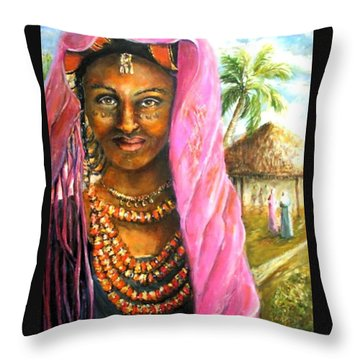 Ethiopia Bride Throw Pillow
