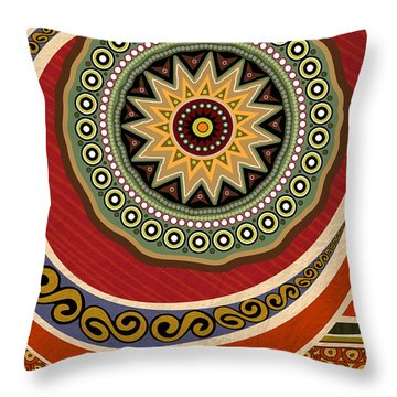 Ethnic Elegance Throw Pillow