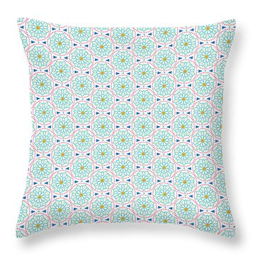 Ethnic Floral Print Throw Pillow by Susan Claire