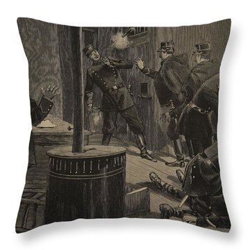 Etievant, The Anarchist Shoots Throw Pillow by F.L. & Tofani, Oswaldo Meaulle