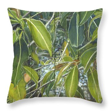 Euca - Leaves Section Throw Pillow