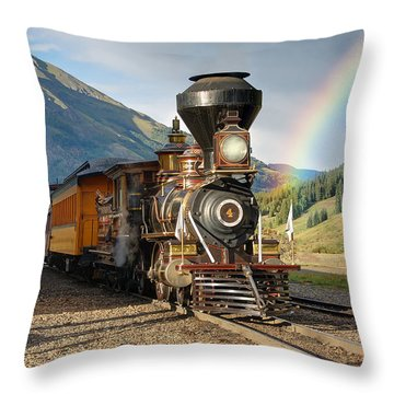 Eureka Rainbow Throw Pillow by Ken Smith