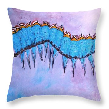 Throw Pillow featuring the painting European Bee Eaters by Donna Dixon