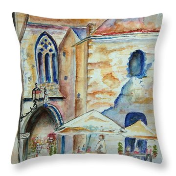 European Cafe Throw Pillow