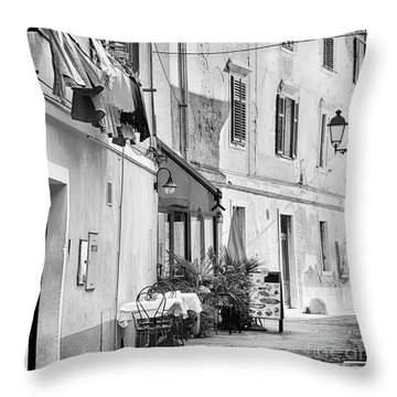 European Street Scene Throw Pillow