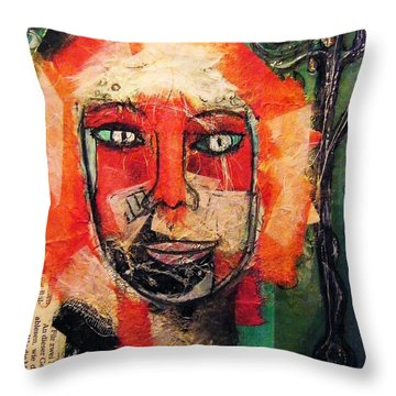 Eva Smiles Throw Pillow by Mimulux patricia no No