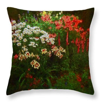 Evanston Garden Throw Pillow by Michael Durst