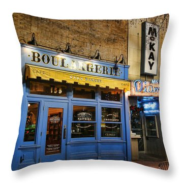 Throw Pillow featuring the photograph Eva's Bakery  by Ely Arsha
