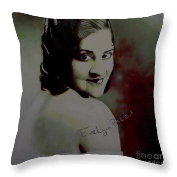 Evelyn Preer Throw Pillow
