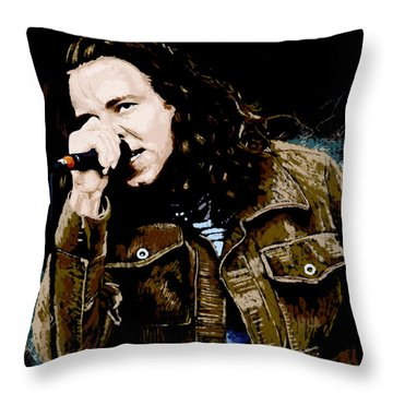 Even Flow Throw Pillow by Kevin Putman