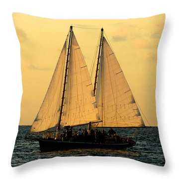 More Sails In Key West Throw Pillow