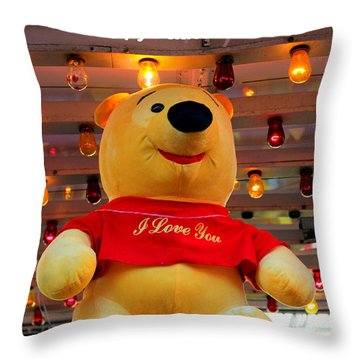 Even Pooh Knows Card Throw Pillow