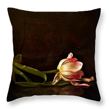 Even Though A Flower Fades Throw Pillow by Theresa Tahara